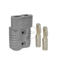 SB175 Anderson connector with 4 AWG contacts - Gray 36 Volts 6325G6