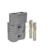 SB175 Anderson connector with 6 AWG contacts - Gray 36 Volts