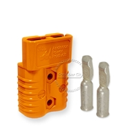 SB175 Anderson connector with 1 AWG contacts - Orange 18 Volts