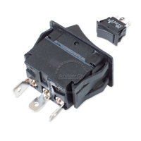 Rocker switch SPST 2 snap-in terminals 20A 125V