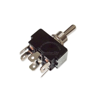 Toggle switch DPDT 6 snap-in termianls 20A 125A