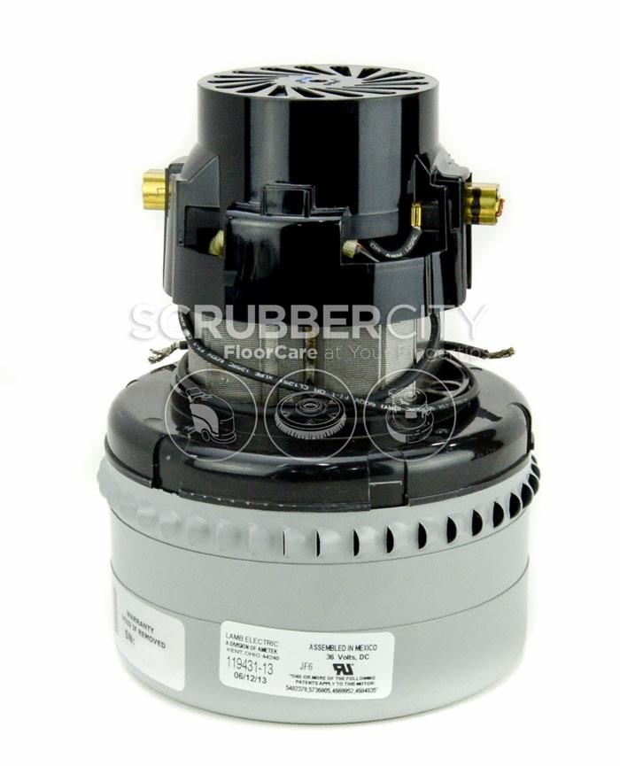 Ametek lamb vacuum motor 36 vdc 3 stage bottom 119431 13 for 2 stage vacuum motor