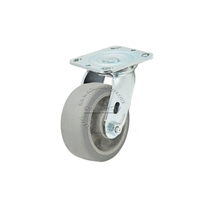 "Colson Trans-forma Flat Grey Thread Swivel Caster Wheel 4""x2"""
