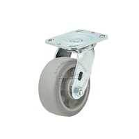 "Colson Trans-forma Flat Grey Thread Swivel Caster Wheel 5""x2"""