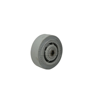 "Colson Performa Rubber Flat Grey with roller bearing and spanner 4""x2"""