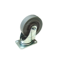 Wheel with swivel caster. Non-marking