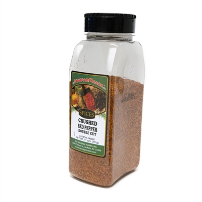 Red Pepper, Crushed, Double Cut, 11 oz.