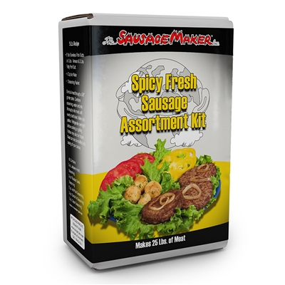 Spicy Fresh Sausage Seasoning Assortment Kit
