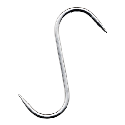 "Stainless Steel ""S"" Hook, 6"" x 8mm"
