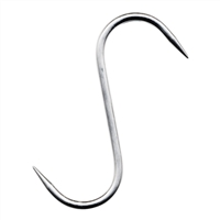"Stainless Steel ""S"" Hook, 8"" x 8mm"