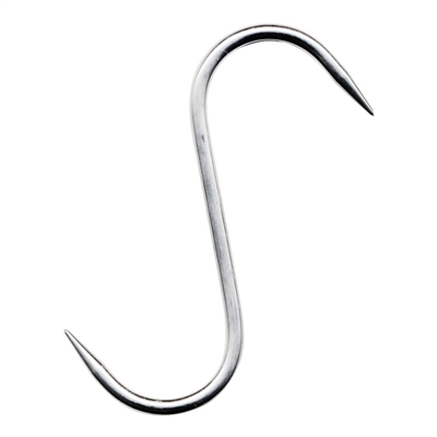 "Stainless Steel ""S"" Hook, 6"" x 8mm, Set of 3"