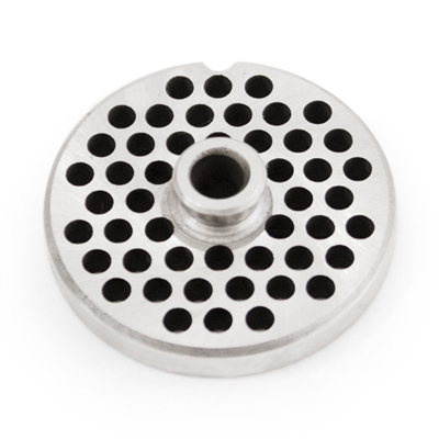 "#10/12 Stainless Steel 1/4"" Grinder Plate with Hub"