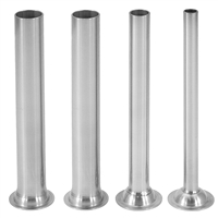 Stainless Steel Stuffing Tubes for 15/20/25/30 lb. Sausage Stuffers, Set of 4