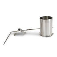 "6"" Smoke Stack with Damper for 100 lb. Smokers"