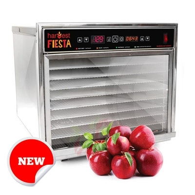 Harvest Fiesta 8 Tray Digital Food Dehydrator with S/S Shelves