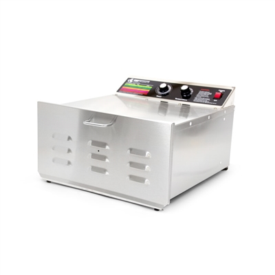 "D-5 Food Dehydrator with 3/4"" Stainless Steel Shelves"