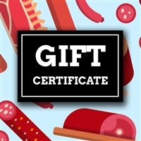 Sausage Maker Gift Certificate