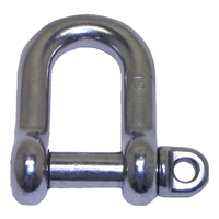 D Shackle with Oversize Pin - Stainless Steel