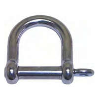 D Shackle Wide - Stainless Steel