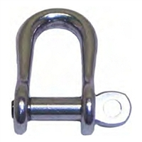 D Shackle Semi Round - Stainless Steel