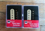SMOKEY B'S SEYMOUR DUNCAN HUMBUCKER PICKUP SET PEARLY GATES ZEBRA SHPG-1N AND SHPG-1B