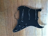Pre Wired Strat Pickguard Black Loaded with Seymour Duncan Everything Axe Pickup Set