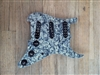 Pre Wired Strat Pickguard Black Pearloid Loaded with Seymour Duncan Everything Axe Pickup Set