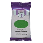 Emerald Green Sanding Sugar - 16 Ounce Bag
