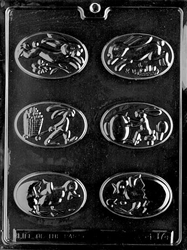 Assorted Oval Easter Pieces Mold
