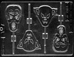 Assorted Ghouls Lolly Mold