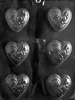 Medium Heart with Flowers Chocolate Mold