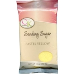 Pastel Yellow Sanding Sugar - 16 Ounce Bag