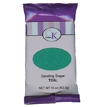 Teal Sanding Sugar - 16 Ounce Bag