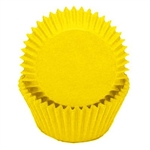 Yellow Round Baking Cups