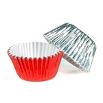 1/2 Ounce Red & Silver Foil Candy Cups