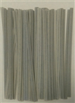 "4"" Gray Paper Twist Ties - 50 Pack"