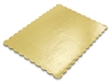 "10"" X 14"" Gold Scalloped Cake Pad"