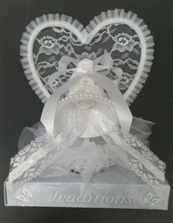 Lace Bell Ornament Wedding Topper