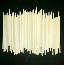 "7/32"" X 7"" Pointed Taffy Apple Sticks"