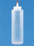 16 Ounce Plastic Squeezable Cylinder Bottle