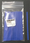 "4"" Blue Paper Twist Ties - 100 Pack"