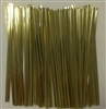 "4"" Gold Metallic Twist Ties - 50 Pack"