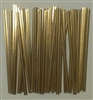 "4"" Gold Paper Twist Ties - 50 Pack"