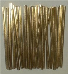 "4"" Gold Paper Twist Ties - 100 Pack"