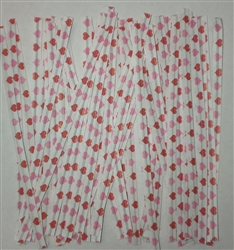 "4"" Hearts Paper Twist Ties - 100 Pack"