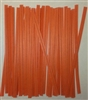 "4"" Orange Paper Twist Ties - 100 Pack"