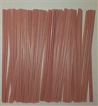 "4"" Pink Paper Twist Ties - 50 Pack"