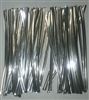 "4"" Silver Metallic Twist Ties - 100 Pack"