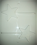 "3-1/2"" Textured Star Hard Candy Mold"