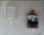 3D candle holly chocolate candy mold plastic